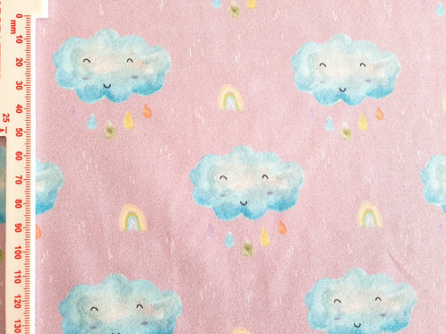 Smiley watercolour cloud (lilac)