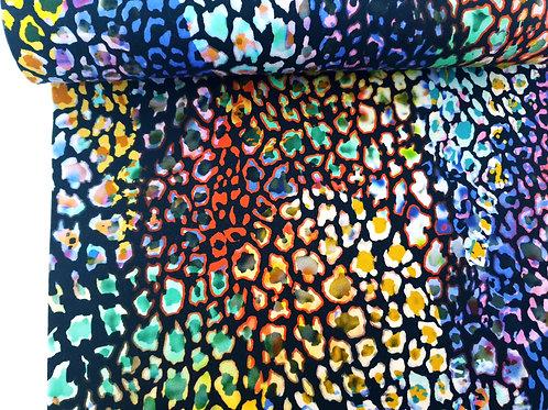 Rainbow fusion animal print - last piece 1 metre