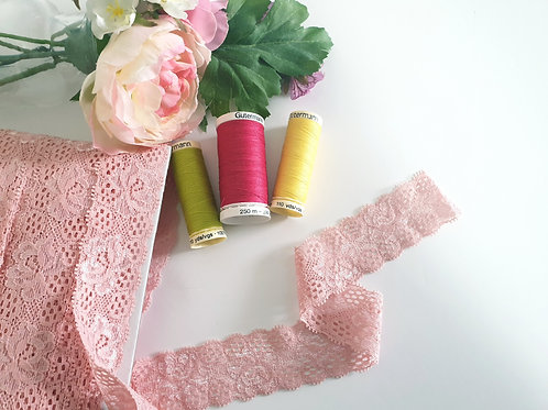 Stretchable Lace in Light Pink