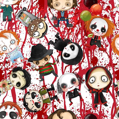 Halloween scary bloody friends