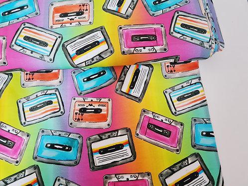 Rainbow Cassette (Cotton Lycra)