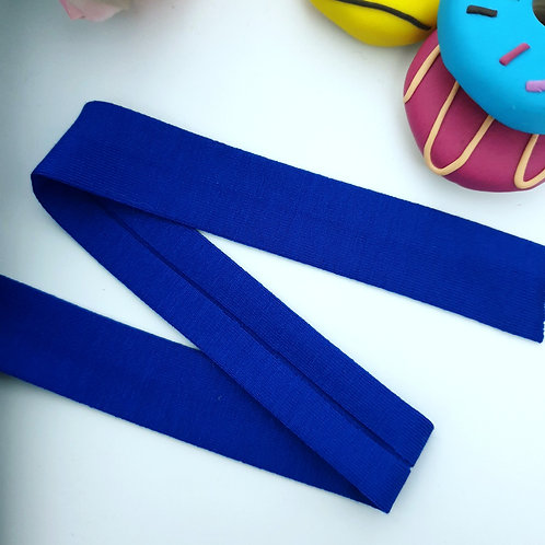 Jersey Folded Bias Binding - Cobalt Blue