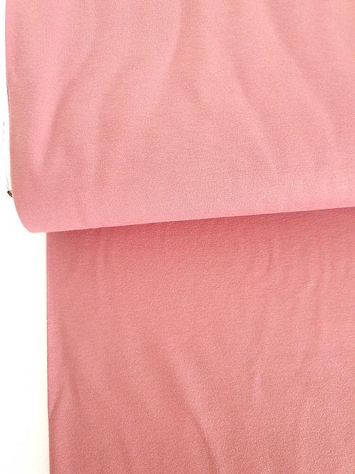 Dusky old rose pink plain jersey
