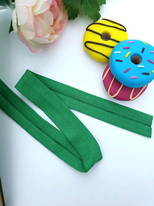 Jersey Folded Bias Binding - Apple Green