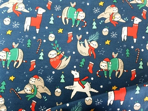 Christmas fun sloth & llama
