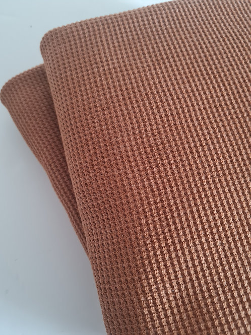 Waffle knit in light brown