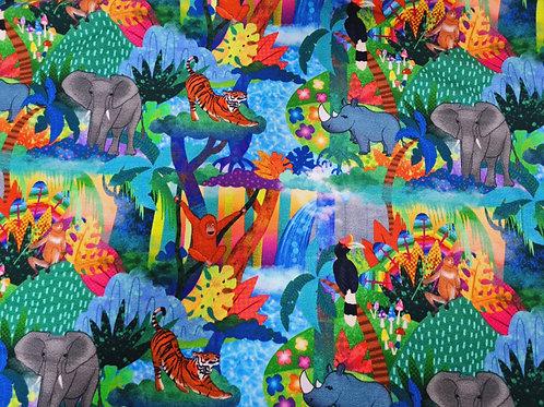 Main Borneo happy jungle (Cotton Lycra)