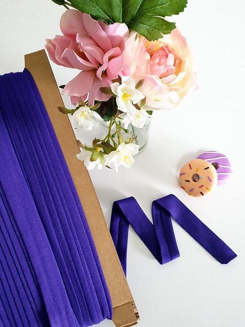 Jersey Folded Bias Binding - Purple