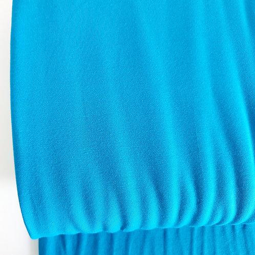 Aqua blue plain jersey
