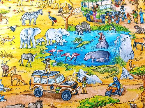 Scenic safari zoo animals - last piece 90cm