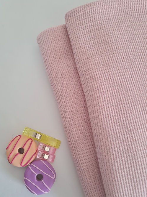 Waffle knit in light pink