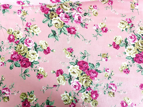 Dazzling roses on pink