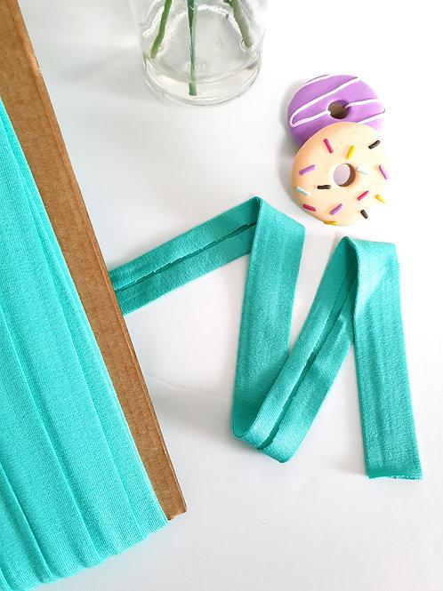 Jersey Folded Bias Binding -Mint green