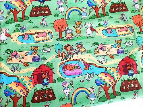 Happy colourful farm