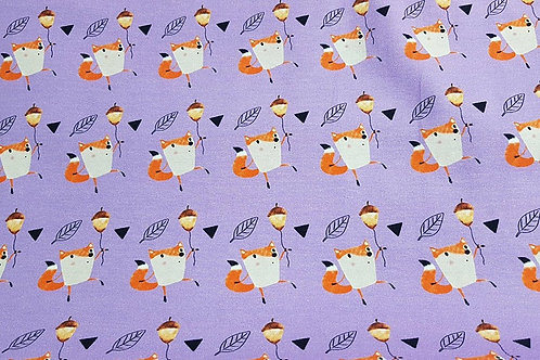 Happy Fox & Acorn (Lilac)