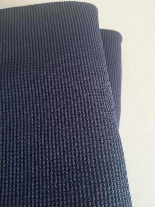 Waffle knit in navy blue