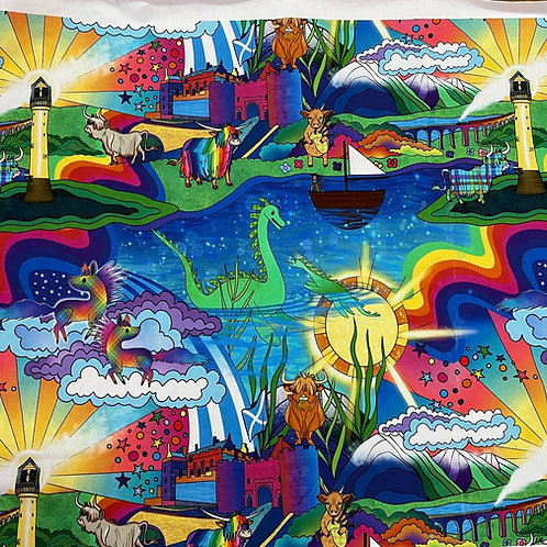 Saltire Dreams - Scottish theme -last piece 73cm