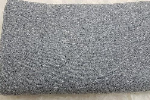 Melange grey cotton lycra rib