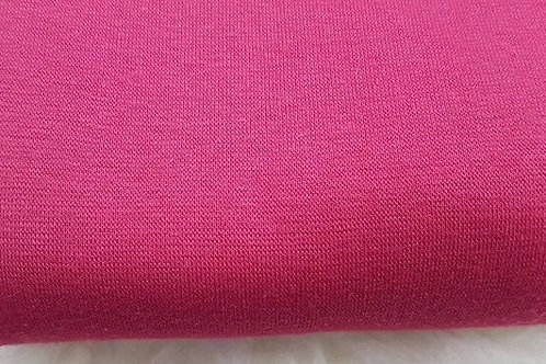 Burgundy red cotton lycra rib