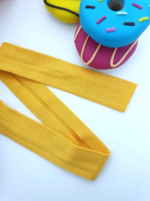 Jersey Folded Bias Binding - Yellow