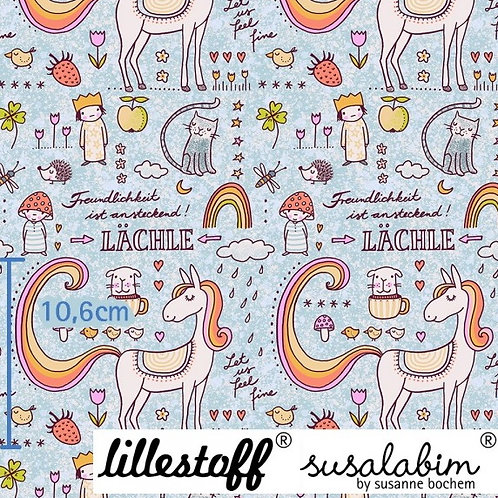 Lillestoff kindness rainbow & cute animals