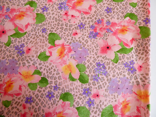 Floral mixed pink animal print