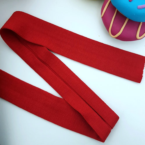 Jersey Folded Bias Binding - Red