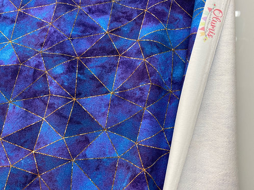 Astral blue gold geo (French Terry)- last piece 90cm