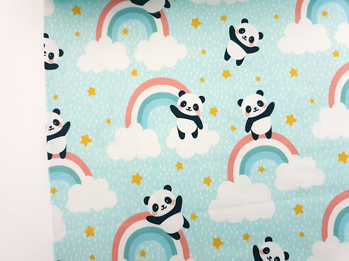 Panda bear and rainbow (Mint)