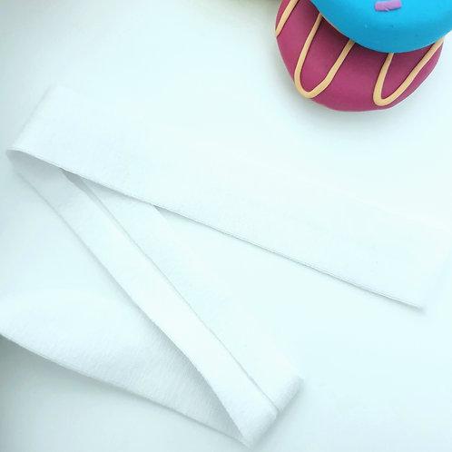 Jersey Folded Bias Binding - White