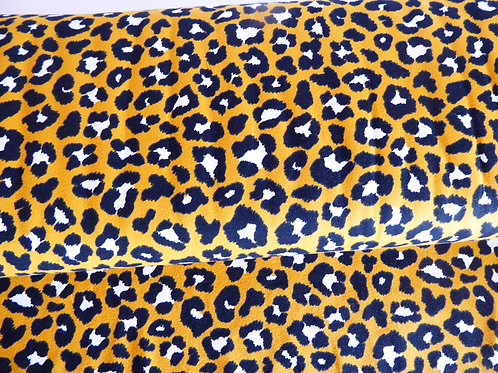 Mustard yellow black/white animal print