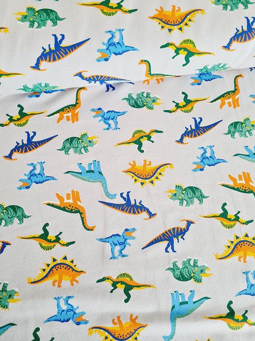 Colourful dinosaur on light grey