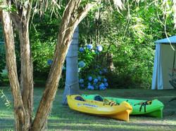 Los Kayaks sit on top