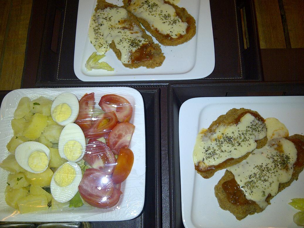 Supremas de pollo Napolitana