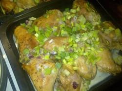 Pollo al verdeo