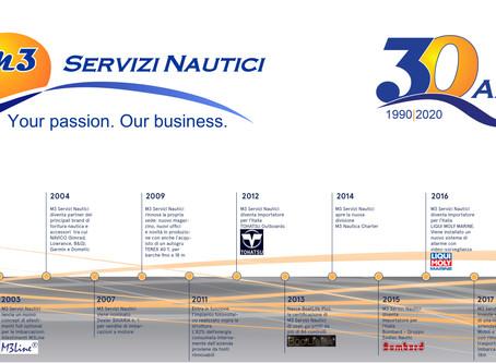 M3 Servizi Nautici festeggia 30 anni di attività