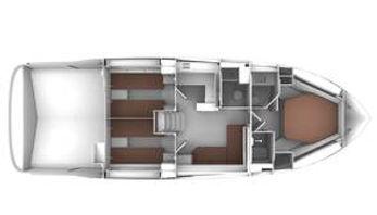 BAVARIA SPORT 450 Layout 3 cabine