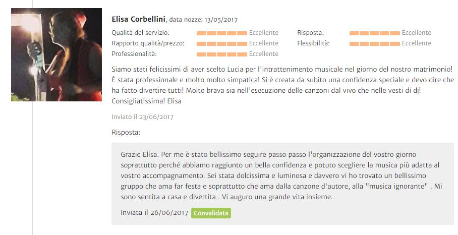 Recensione Elisa Corbellini
