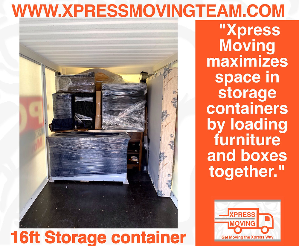 Serving the Greater Austin area |Portable storage container loaded by the Xpress Moving Team 512-943-7709