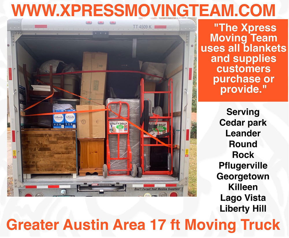 Serving the Greater Austin area | Xpress Moving Team loads moving truckruck.