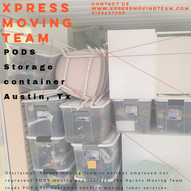 Call 5129437709 experienced Moving Labor for PODS, 1800-packrat, U-haul, and Penske Trucks loaded by the Xpress Moving Team 512-943-7709