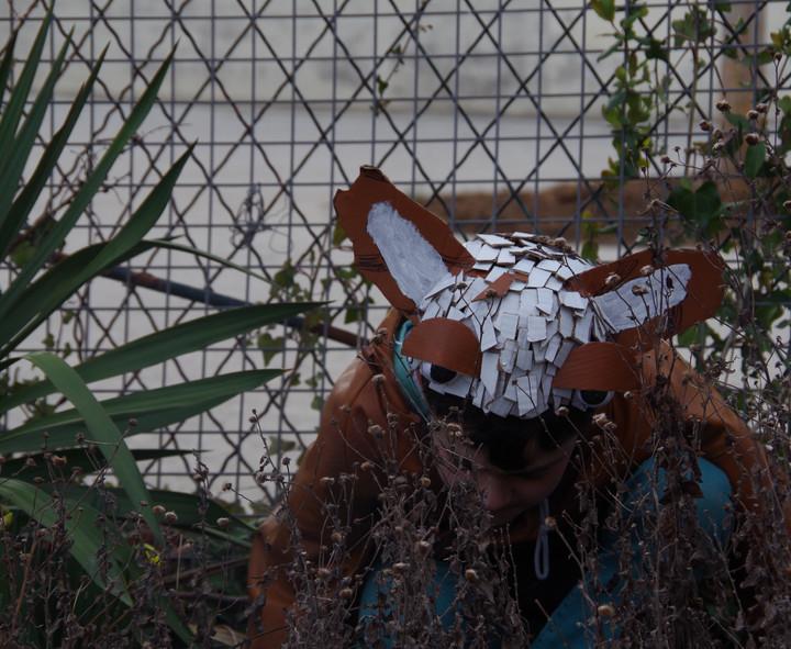 Masque réalisé pendant le stage arts plastiques et théâtre
