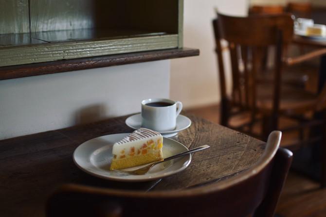 ネーブルオレンジのレアチーズケーキ