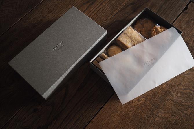 4種の菓子の箱について