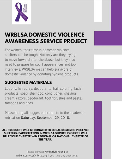 WRBLSA Domestic Violence Awareness Service Project