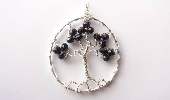 Black Swarovski Elements TREE OF LIFE Necklace