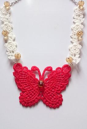 Guipure Lace Motif & Swarovski Elements Necklace
