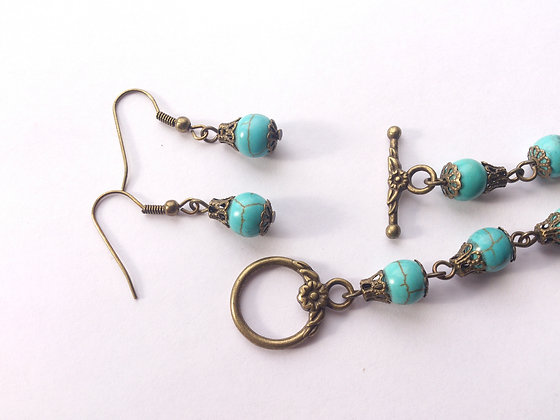 Turquoise Bracelet & Earring Set