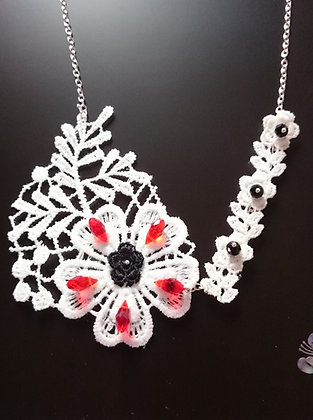 Guipure Lace Motif Swarovski Elements Necklace