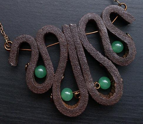 Jade Leather Necklace